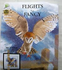Flights of Fancy. Cross Stitch. Owl in Flight