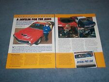 "1970 AMC Javelin T/A Article ""A Javelin for the Ages"" Special Order 1 of 100"