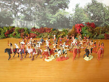 1FP A NICE LOT OF 56 PIECE 1/72 PAINTED AMERICAN INDIANS HELLER AIRFIX (7)