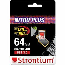 Strontium 64GB OTG NITRO PLUS USB 3.0 Micro 2.0 Flash Drive for Android Phone
