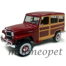 ROAD SIGNATURE 92858 1955 55 WILLYS JEEP STATION WAGON 1/18 DIECAST BURGUNDY