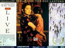 TO LIVE 1994 Gong Li Zhang Yimou CHINA UK QUAD POSTER