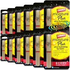 12x Carmex Moisture Plus BERRY Sheer Tint Ultra Hydrating Lip Balm 2g Vitamin E