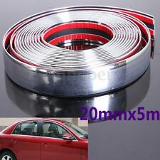 16FT 5M x 20mm Chrome Moulding Trim Strip Car Door Edge Scratch Guard Protector