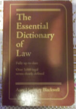 The Essential Law Dictionary by Amy Blackwell (2004, Paperback)