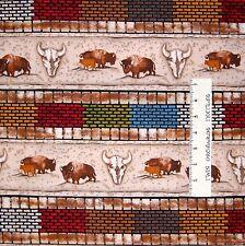 Southwest Fabric - Essential Cowboy Buffalo Stripe Beige - Riverwoods YARD