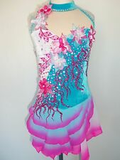 CUSTOM MADE NEW FIGURE ICE SKATING BATON TWIRLING DRESS