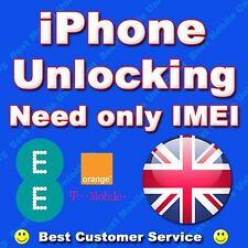 UNLOCK IPHONE 4 5 4S 5S 5C 3G 3GS 6 6+ T-MOBILE ORANGE EE UK CLEAN