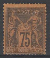 """FRANCE STAMP TIMBRE N° 99  """" SAGE 75c VIOLET SUR ORANGE """" NEUF x A VOIR  N282"""