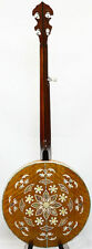 5 String banjo,curl maple MOP inlaid Resonater,Hard case,BBO03