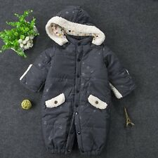 Baby Boy Girl WINTER WARM Snowsuit  Coat Outerwear Romper Outfit Clothes 3-9M