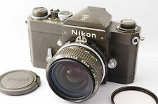 Super Rare !! 【Exc+++】NIKON F Eye-Level Olive w/ Ai Nikkor 28mm F/3.5 from Tokyo