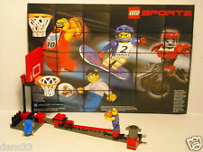 "LEGO SPORTS ~ BASKETBALL ~ Set 3427-1 ~ ""NBA SLAM DUNK"" ~ w/ Minifig ~  Yr: 2003"