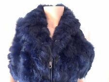 Sexy Blue Icelandic Rabbit Fur Vest (retail £350)