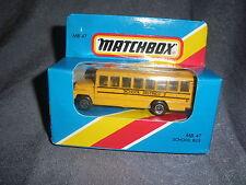 284B Vintage Matchbox 1981 MB 47 Autobus Scolaire Bus School District 2 USA 1:76