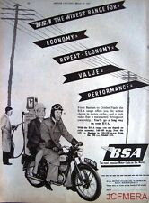 1957 Motor Cycle ADVERT - B.S.A. Range' Vintage Original Print AD