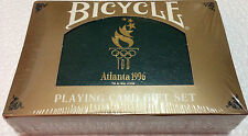 Bicycle 1996 Atlanta Olympic Playing Cards 2 Deck Collector Case Limit Ed SEALED