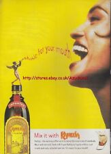 "Kahlua ""Music For Your Mouth"" 1995 Magazine Advert #1966"