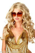 Mesdames Perruque Lady Gaga Longue Ondulée Blonde Sexy Deluxe cheveux!
