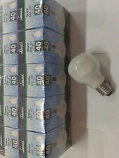 LOTTO STOCK PEZZI 10 LAMPADINE INCANDESCENZA E27 40W SNOW OPALE FORMA QUADRATA