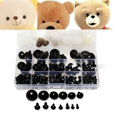 154pcs 6-24mm Black Plastic Safety Eyes For Teddy Bear Doll Animal Puppet Crafts