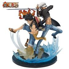 ONE PIECE- MONKEY D.LUFFY & TRAFALGAR LAW 16 CM-EDITION 5TH ANIVERSARY  6""
