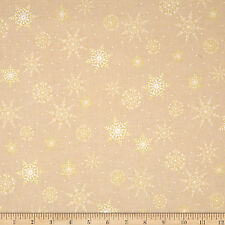 Quilting Treasures Metals fabric collection material Stars Snowflakes metallic