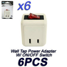 Lot of 6 Wall Tap Power Adapter Plug Outlet ON/OFF Switch W/O Unplugging Cords
