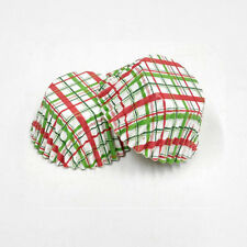 3oz Cupcake Liner 200 Pieces (Christmas Plaid)
