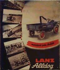 Älteres Blechschild Lanz Alldog Traktor Schlepper Reklame Werbung gebraucht used