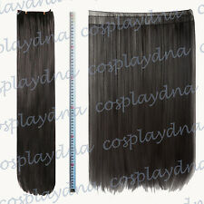 "24"" Black Heat Stylable Hair Weft Extention (3 pieces) Cosplay DNA 7001"