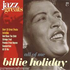 BILLIE HOLIDAY - All Of Me (EU 22 Tk CD Album) (Jazz Greats Volume 1)