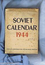 #DD. 1943 WWII RUSSIAN BOOK - SOVIET CALENDAR 1944