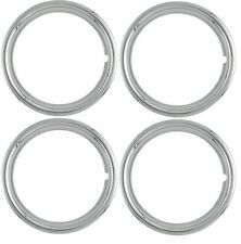 "16"" inch NEW Plastic Chrome Beauty Rings Standard 2"" TRIM RING SET Measures 1.75"