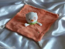 Doudou chat orange, blanc, Nicotoy, Kiabi,  Blankie/Lovey/Newborn toy