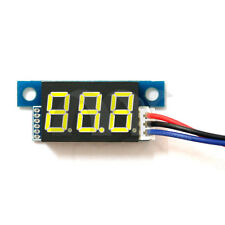 Yellow LED Panel Meter Mini Lithium Battery Digital Voltmeter DC 3.3V - 30V