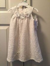 Carters Cream Flower Dress Baby Girl Size 12 Months Nwt