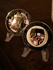 2017 MARYLAND STATE POLICE BADGE / PATCH CHALLENGE COIN IN BLACK