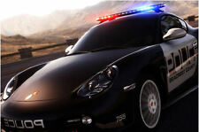 Framed Print - Porsche Cayman Police Car (Picture Poster Art Vehicle Supercar )