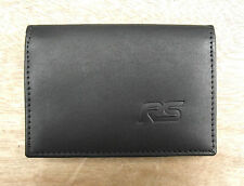 RS logo Black Leather wallet credit card size, licence / ID holder vs933