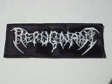 REPUGNANT EMBROIDERED LOGO DEATH/THRASH METAL PATCH