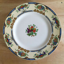 Myott Staffordshire England Set of 5 Dinner Plates White Fruit Bowls Floral LH39