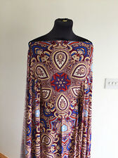 Jewel Tones Mystical Paisley Print Stretch Jersey Dressmaking Fabric AW/2016