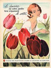 PUBLICITE ADVERTISING 045  1956  LES TULIPES & JACINTHES DE HOLLANDE  P. SIMON