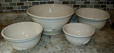 4 Vintage McCoy Pottery Nesting Mixing Bowls Country Goose Pattern 2106,07,08,10