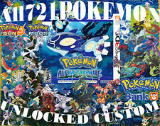 Pokemon Alpha Sapphire All 721 Unlocked Shiny Legit Legal Max Items 3DS 6 IV