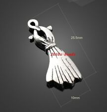 NEW 20pcs alloy beautiful clothes dress finding Charm Pendant 25x10mm
