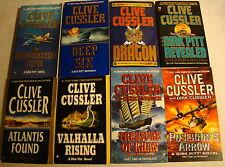Lot of 8 DIRK PITT Series CLIVE CUSSLER pbs Adventure