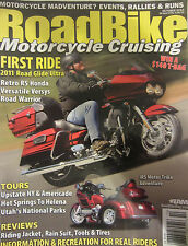 Road Bike Magazine October 2010 First Ride 2011 Road Glide Ultra Retro RS Honda