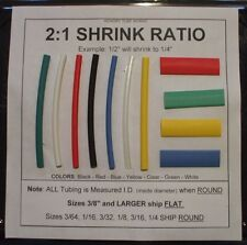"1/8"" BLACK 10' Heat Shrink Tubing - Shipping Discount"